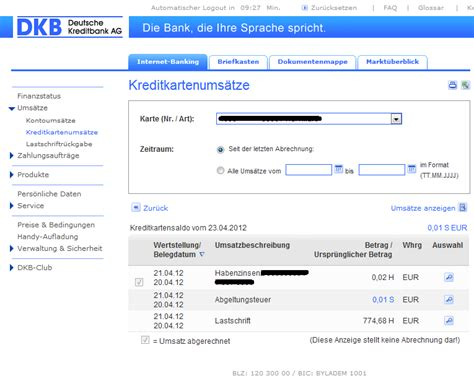 dkb bank internetbanking dkb rechnet kreditkartenabrechnung falsc bild dkb