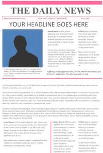 tabloid article template newspaper template