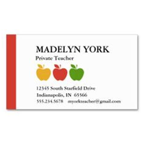substitute teacher business card template cute