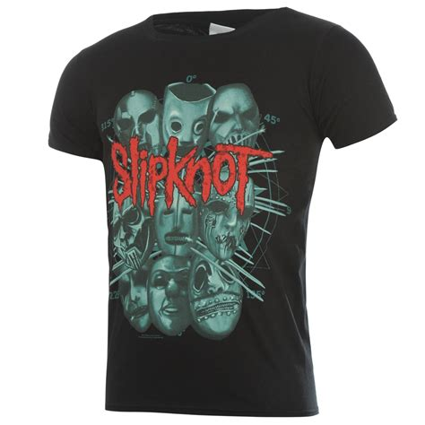 Crew Neck Printed T Shirt Mens by Official Mens Slipknot Band Graphic Band Printed Crew Neck T Shirt Top Ebay