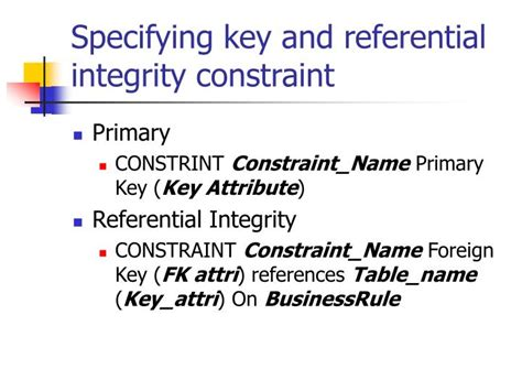 Alter Table Add Primary Key Oracle by Ppt Integrity Powerpoint Presentation Id 3997232