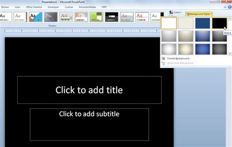 powerpoint design variants how to change powerpoint presentation to use black slide