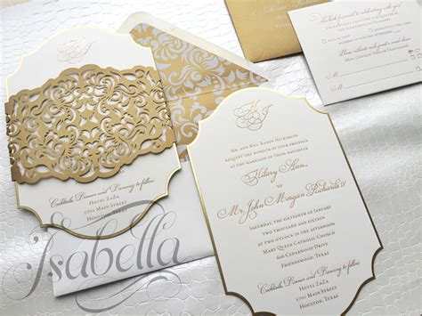 Engraved Wedding Invitations by Invitations An Custom Invitations