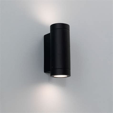 astro porto plus black outdoor wall light at uk