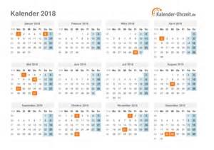Kalender 2018 Kw Kalender 2018 Mit Feiertagen