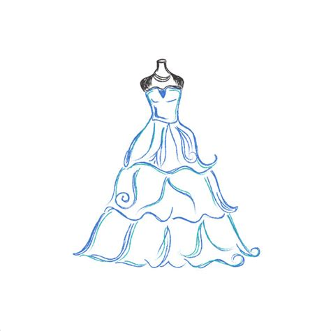 wedding dress patterns 21 free eps ai illustration