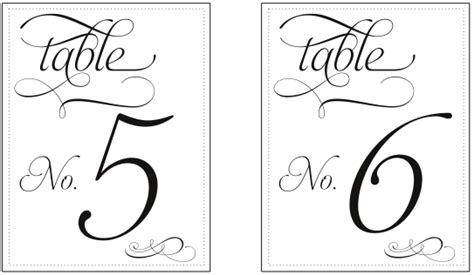 Printable Table Number Templates Vastuuonminun Free Table Number Templates