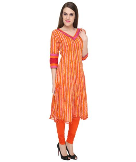 kurti pattern anarkali buy orange anarkali women kurta online