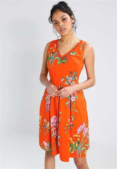 Dress Wanita Orange derhy mansarde summer dress orange clothing