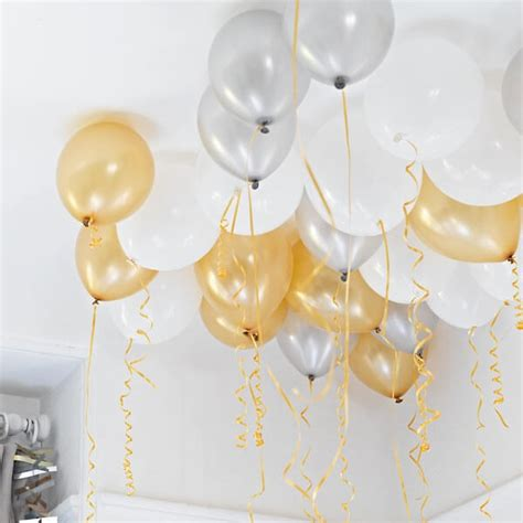 deko ballons quot ceiling quot dekoration f 252 r jede weddix de - Deko Gold Silber
