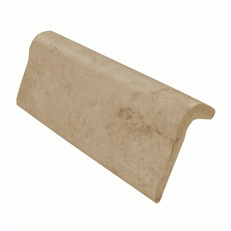 chair rail end cap daltile briton bone 2 in x 6 in ceramic chair rail wall