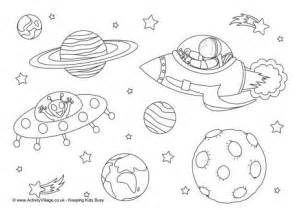 space colouring page