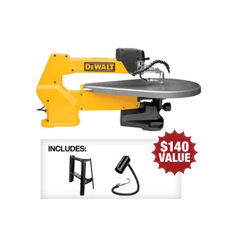 Dewalt Dw788 Bndl 20 In Variable Speed Scroll Saw With
