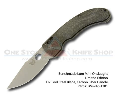 Toppol Stop Ngompol Limited discontinued benchmade limited edition lum mini onslaught d2 tool steel blade carbon fiber