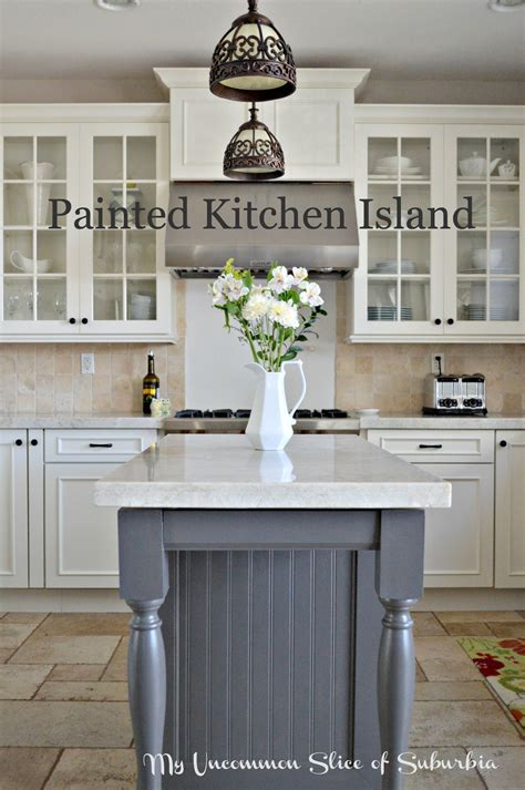 Painting Kitchen Island | painted kitchen island