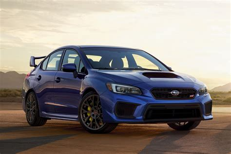 subaru si refreshed 2018 subaru wrx sti receive minor updates but