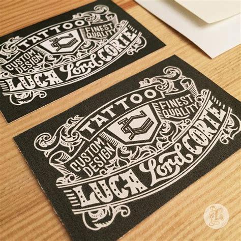 Tattoo Business Card Maker | featured student project tattoo business card by reiko