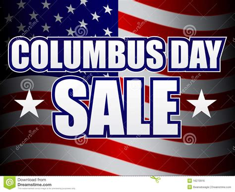 day sale columbus day sale royalty free stock image image 16270916