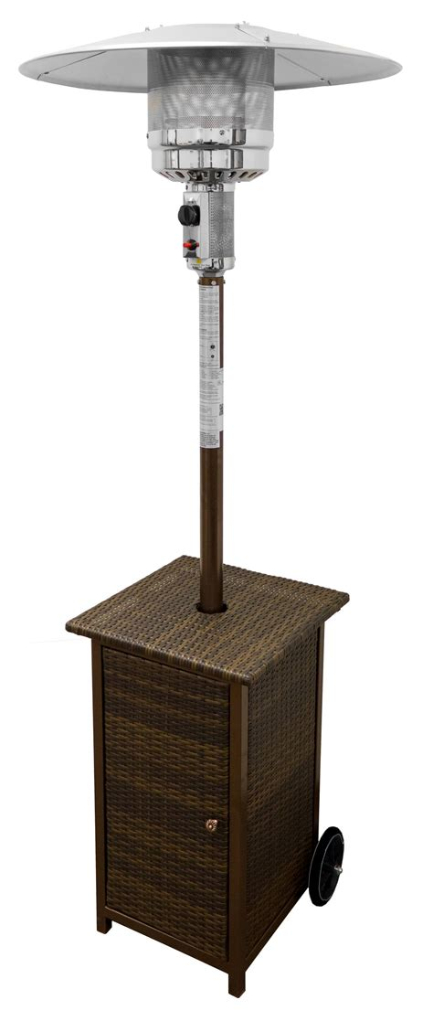87 Tall Square Wicker Patio Heater With Table The Deck 87 Patio Heater