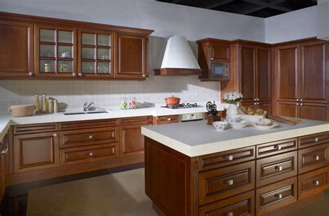 Solid Wood Kitchen Furniture Online Get Cheap Kitchen Cabinet Cherry Aliexpress Com