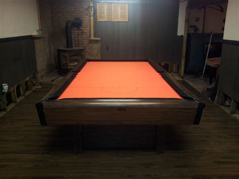 brunswick bristol pool table this brunswick bristol pool table was reclothed with