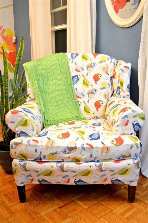 No Sew Reupholster by Tips For A Mostly No Sew Reupholstered Chair