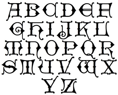 free printable gothic alphabet letters 16 v alphabet coloring page harry potter pennant