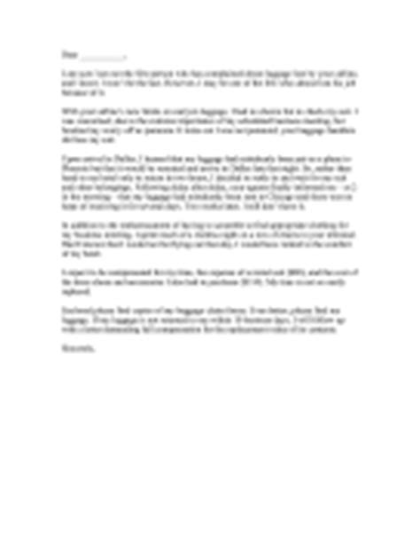 Complaint Letter On Flight Delay Complaint Letter Templates