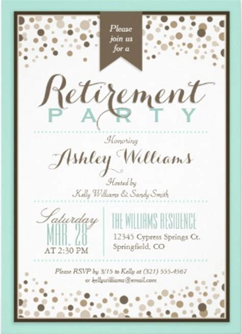free templates for retirement invitations 16 retirement invitation templates free sle exle