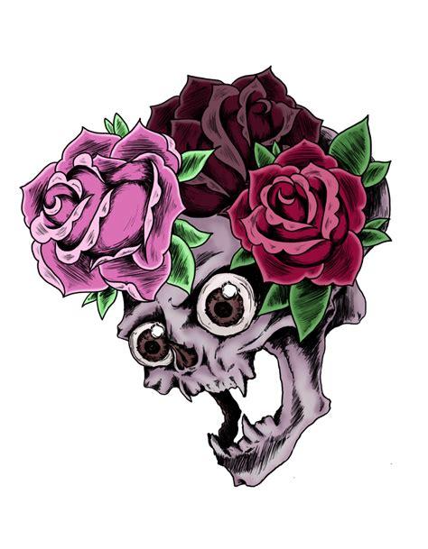 tattoo design skull png skull and roses by little bluefish on deviantart