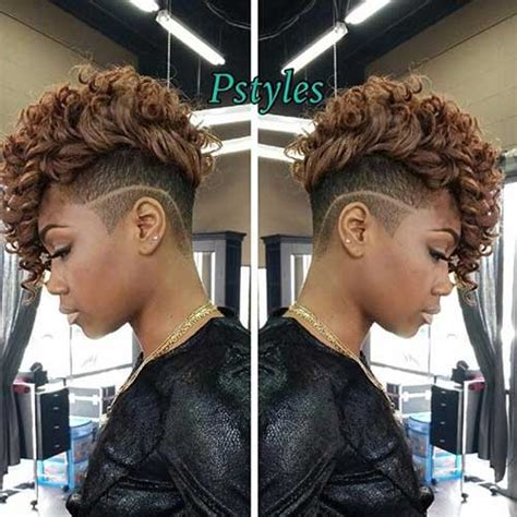 Mohawk Hairstyle For Black With Curly Weave by Best Curly Weave Hairstyles Hairstyles 2017