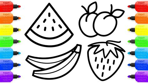 Fruits Drawing For Colouring At Getdrawings Com Free For Personal Use Fruits Drawing For Drawing For Children To Colour