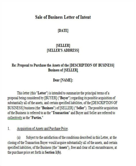 Letter Of Intent Sle letter of intent formats 53 exles in pdf word