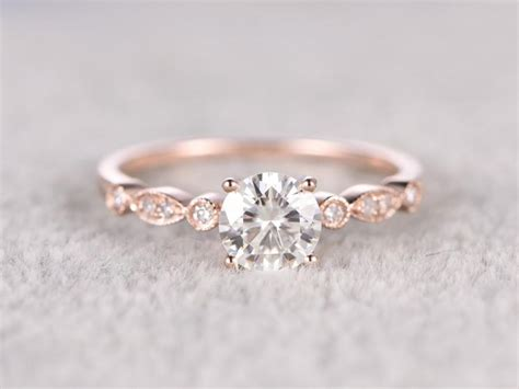 Band Engagement Moissanite Ring Wedding by Brilliant Moissanite Engagement Ring Gold Moissanite