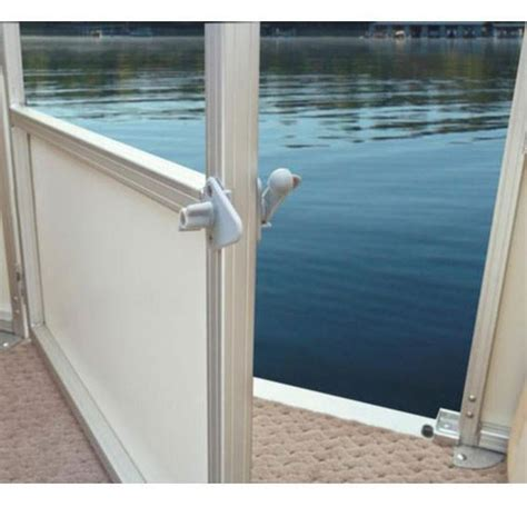 pontoon gate stop pontoon boat gate latch pontoonstuff