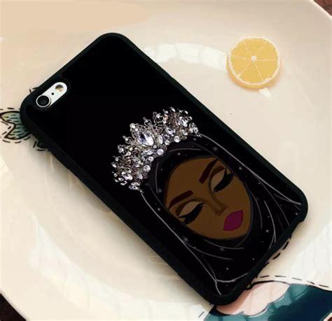 dark brown hijabi queen phone case iphone samsung  muslim phone case