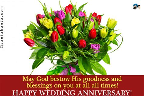 Wedding Anniversary Wishes With God Bless by Anniversary Blessings Quotes Quotesgram
