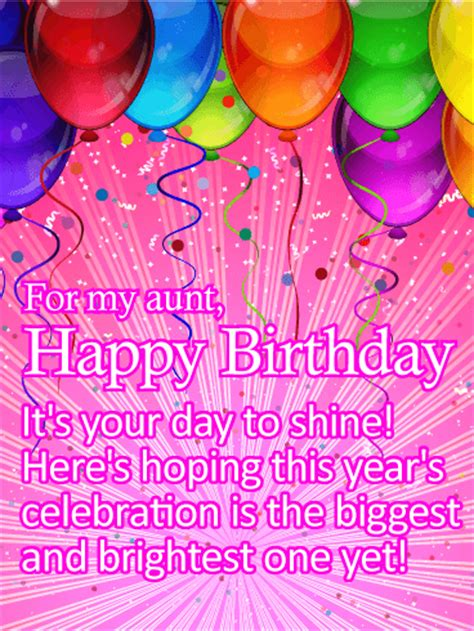 happy birthday aunt printable cards it s your day to shine happy birthday card for aunt