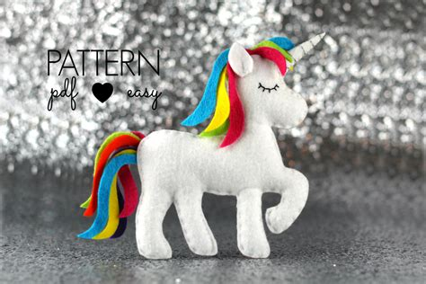felt pattern unicorn unicorn sewing pattern felt unicorn plush unicorn toy felt