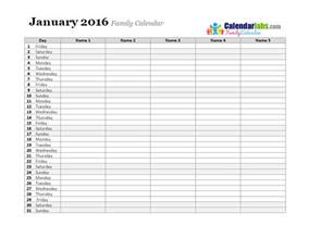 Calendar Monthly Template by 2016 Monthly Planner Template Free Printable Templates