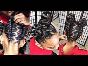 #226. #iamglamfreak inspired upside down glam braids into