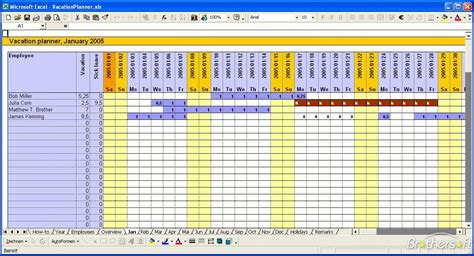 staff planner excel template free 2016 employee vacation schedule calendar template 2016