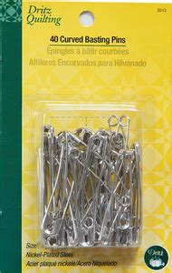 dritz quilting dl3013 120 curved safety pins for basting