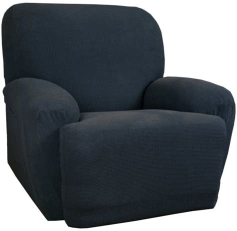 blue recliner slipcover discount deals maytex stretch waffle 2 piece slipcover