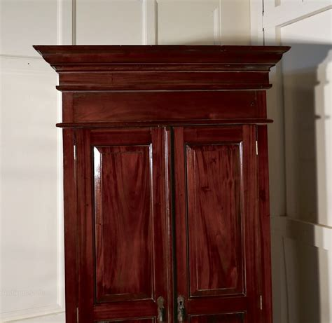 hanging wardrobe armoire a solid mahogany shelved armoire hanging wardrobe