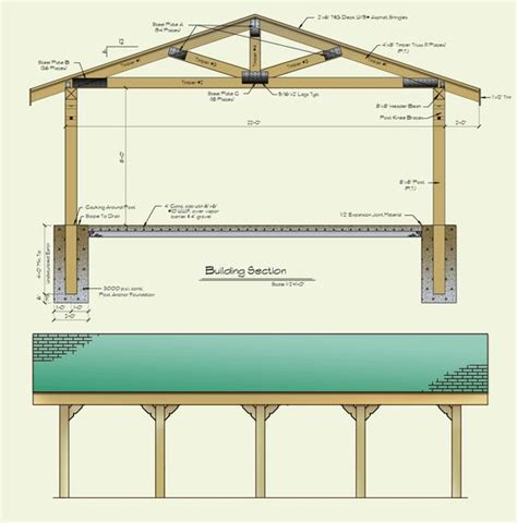 outdoor shelter plans 22x30 picnic shelter also idea for shoring up barn rafters