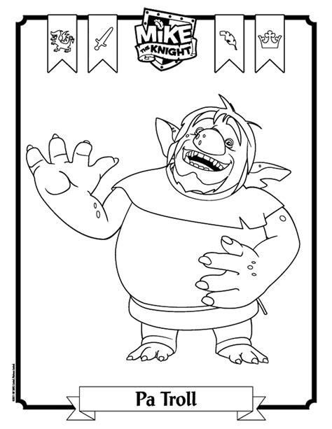 dibujos para colorear ya los mejores dibujos para dibujo para colorear de mike el caballero pa troll