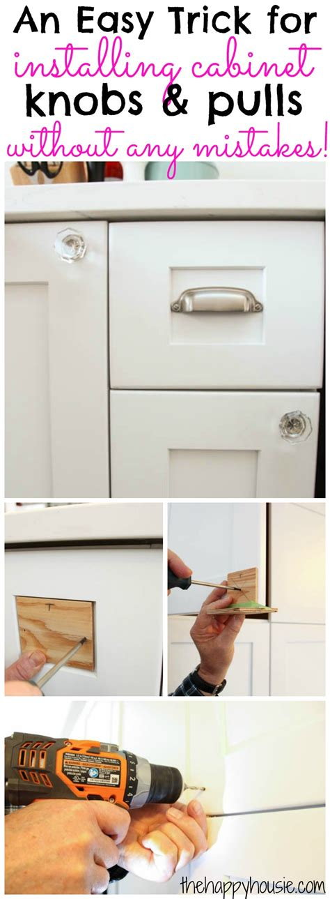 how to install handles on kitchen cabinets how to install cabinet knobs with a template a trick for