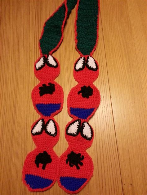 crochet pattern for spiderman scarf crocheted spiderman scarf free pattern available from