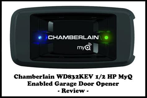 chamberlain wd832kev 1 2 hp myq enabled garage door opener